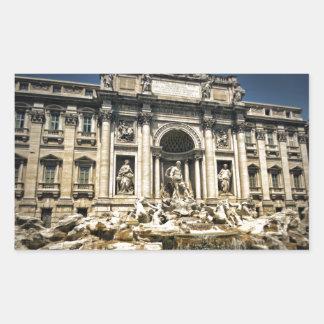 Trevi Fountain, Fontana di Trevi, Rome, Italy Rectangular Sticker