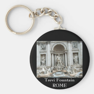 Trevi Fountain in Rome, Italy Basic Round Button Keychain