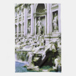 Trevi Fountain Kitchen Towel
