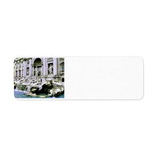 Trevi Fountain Custom Return Address Label