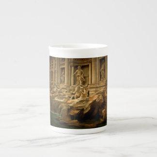 Trevi fountain painting Rome Bone China Mug
