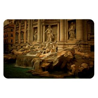 Trevi fountain painting Rome Vinyl Magnet