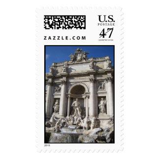 Trevi Fountain Postage Stamp