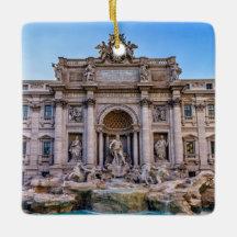 Trevi Fountain Christmas Ornaments Zazzle 100 Satisfaction Guaranteed