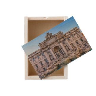 Trevi fountain, Roma, Italy Wooden Keepsake Box