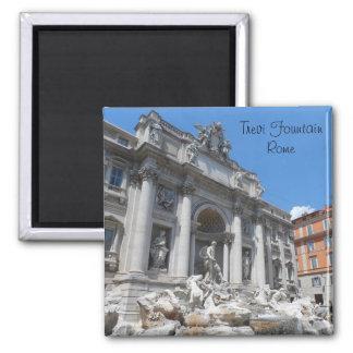 Trevi Fountain- Rome 2 Inch Square Magnet