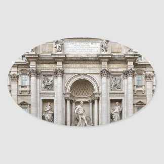 Trevi-Fountain,-Rome,-Angie.JPG Oval Sticker