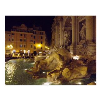 Trevi Fountain Rome at night Postcard