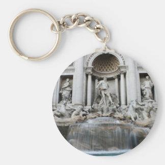 Trevi Fountain Rome Basic Round Button Keychain