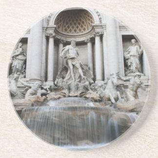 Trevi Fountain Rome Beverage Coasters