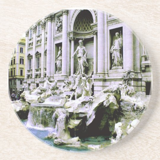 Trevi Fountain Rome Drink Coaster