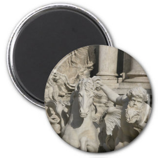 Trevi Fountain, Rome Italy 2 Inch Round Magnet