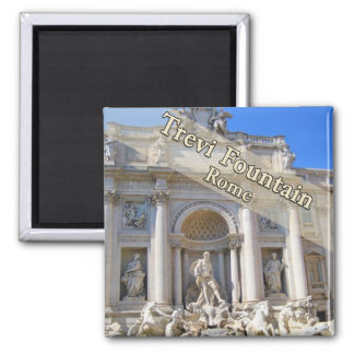 Trevi Fountain Rome Italy 2 Inch Square Magnet