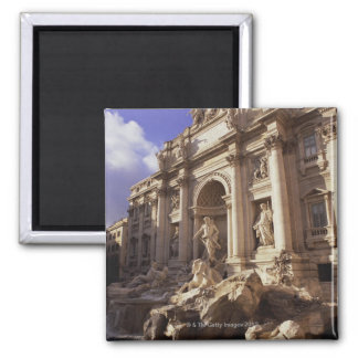 Trevi Fountain, Rome, Italy 2 Inch Square Magnet