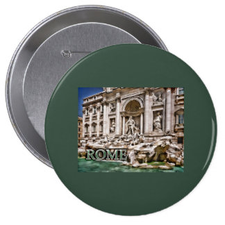 Trevi Fountain Rome Italy Pinback Buttons