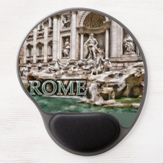 Trevi Fountain Rome Italy Gel Mouse Pad