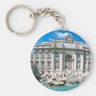 Trevi-Fountain-Rome-Italy-[kan.k].JPG Basic Round Button Keychain