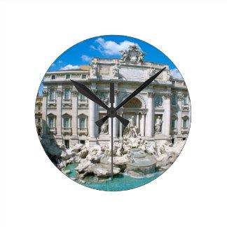 Trevi-Fountain-Rome-Italy- kan k JPG Round Clock