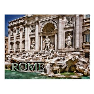 Trevi Fountain Rome Italy Postcard