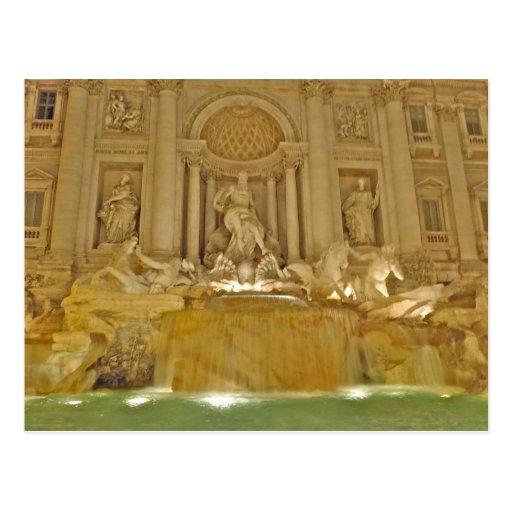 Trevi Fountain - Rome, Italy Postcard