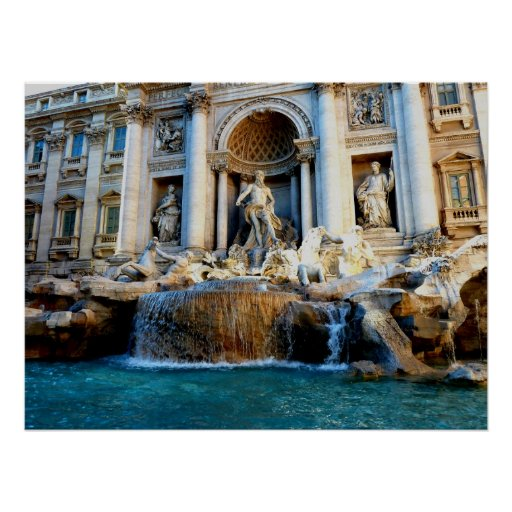 Trevi Fountain, Rome, Italy Posters