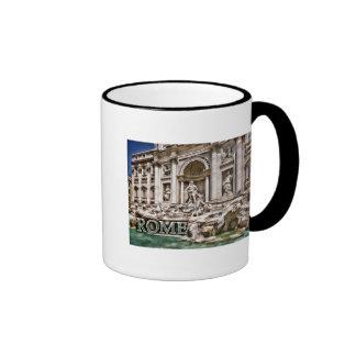Trevi Fountain Rome Italy Ringer Mug