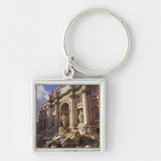 Trevi Fountain, Rome, Italy Silver-Colored Square Keychain
