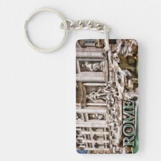 Trevi Fountain Rome Italy Single-Sided Rectangular Acrylic Keychain