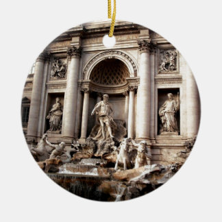 Trevi Fountain Rome Italy Travel Ceramic Ornament
