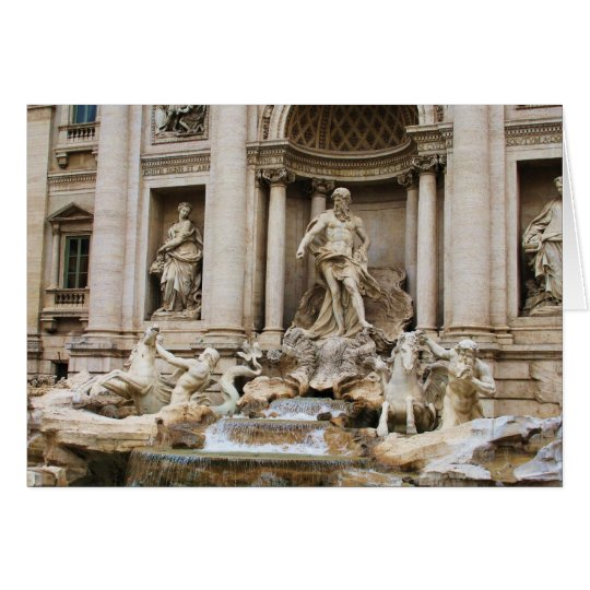 Trevi Fountain Rome Italy Travel Photo Card