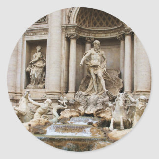 Trevi Fountain Rome Italy Travel Photo Classic Round Sticker