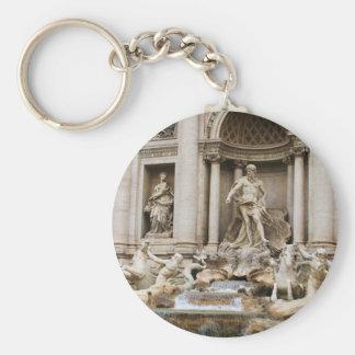 Trevi Fountain Rome Italy Travel Photo Keychain