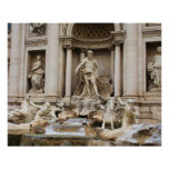 Trevi Fountain Rome Italy travel photo Poster