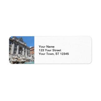 Trevi Fountain- Rome Return Address Label