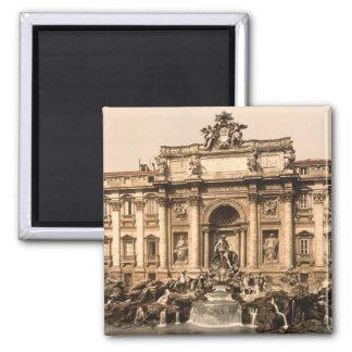 Trevi Fountain, Rome, Lazio, Italy 2 Inch Square Magnet
