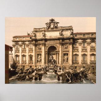 Trevi Fountain, Rome, Lazio, Italy Poster