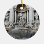 Trevi Fountain Rome Double-Sided Ceramic Round Christmas Ornament