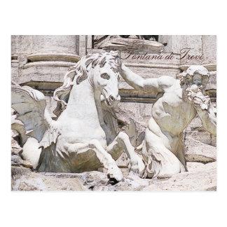 Trevi fountain, Rome Postcard