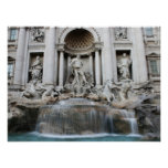 Trevi Fountain Rome Poster