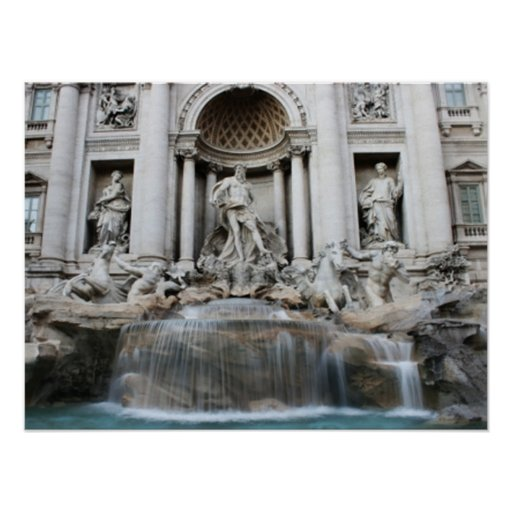 Trevi Fountain Rome Poster