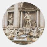 Trevi Fountain Round Sticker