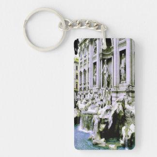 Trevi Fountain Single-Sided Rectangular Acrylic Keychain