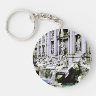 Trevi Fountain Single-Sided Round Acrylic Keychain