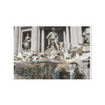 trevi fountain stretched canvas print