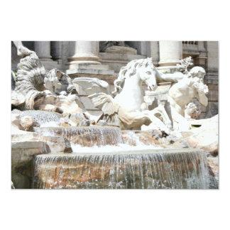 Trevi Fountain Triton and Horse in Rome, Italy 5x7 Paper Invitation Card
