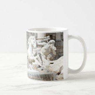 Trevi Fountain Triton and Horse in Rome, Italy Coffee Mug