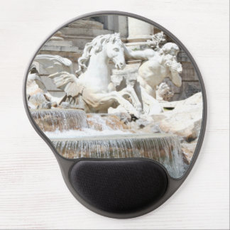 Trevi Fountain Triton and Horse in Rome, Italy Gel Mouse Pad