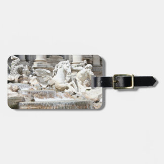 Trevi Fountain Triton and Horse in Rome, Italy Travel Bag Tags