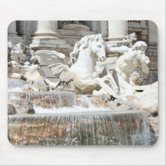 Trevi Fountain Triton and Horse in Rome, Italy Mouse Pad