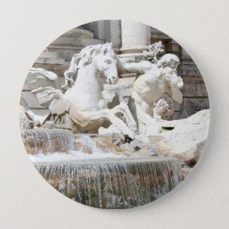 Trevi Fountain Triton and Horse in Rome, Italy Pinback Button